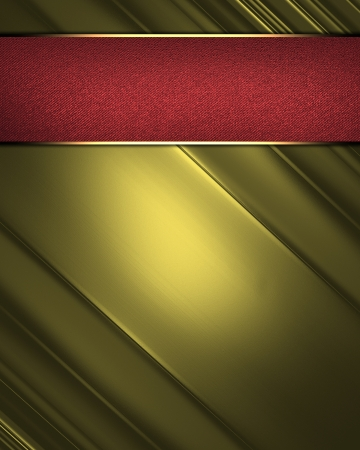 elegant gold abstract background and red nameplate. Design template Stock Photo - 19217154