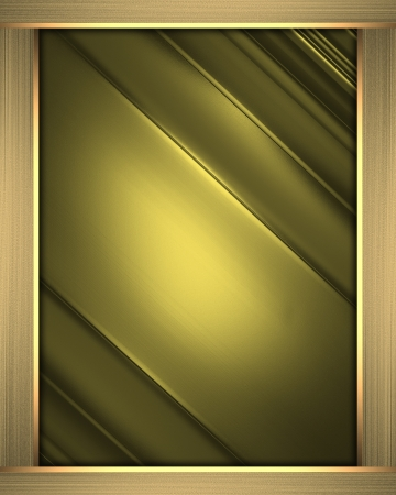 Business elegant gold abstract background on gold frame. Design template Stock Photo - 19218407