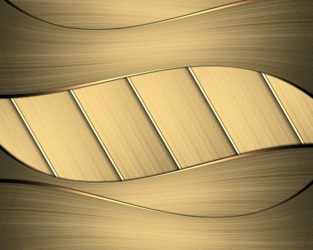 Gold background from stripes. Element of design. Stock Photo - 19218406