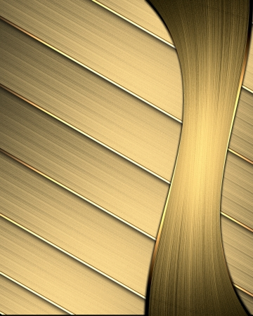 Gold background from stripes. Design template photo
