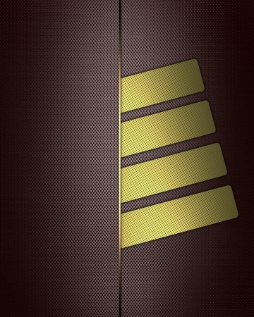 Template for design. Brown elegant background with gold buttons. Design for website Stock Photo