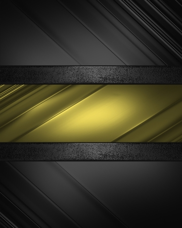 Design template. Beautiful black background with gold nameplate photo