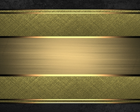 gold plaque: Different gold bands for the text on a black background. Design template. Design for website