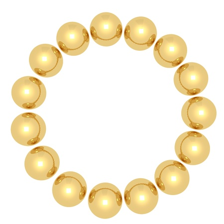 Golden balls in a circle Stock Photo - 20119526