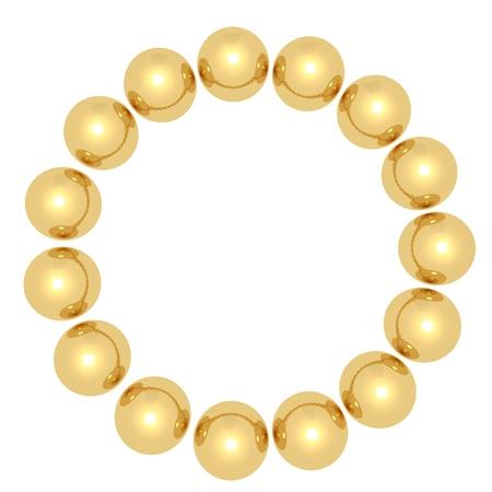 Golden balls in a circle Stock Photo - 20119526