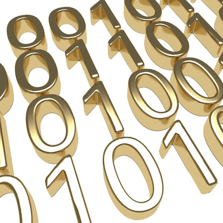 Gold Binary Code photo