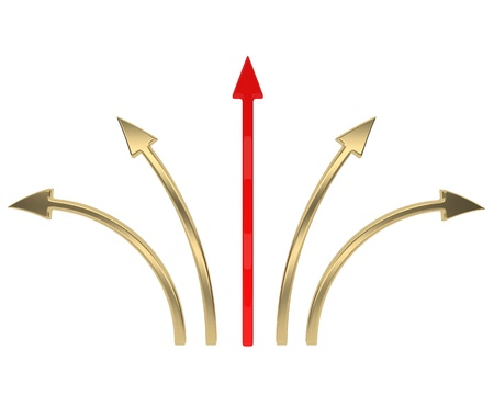 Arrows pointing in different directions photo