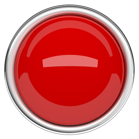 Red sphere and ring. Red button