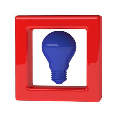 blue light bulb 3d as creative concept Stock Photo - 20119531