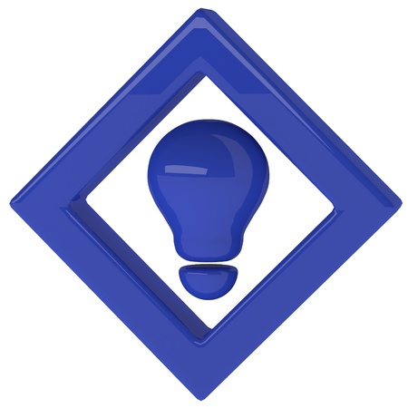blue light bulb 3d as creative concept Stock Photo - 20119538