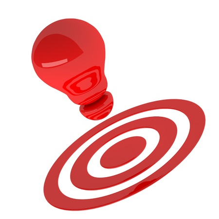 Red light bulb 3d as creative concept. Success concept Stock Photo - 20119529