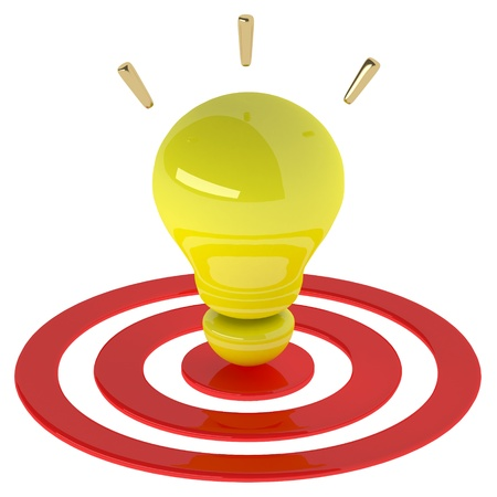 Yellow light bulb 3d as creative concept. Success concept Stock Photo - 20119549
