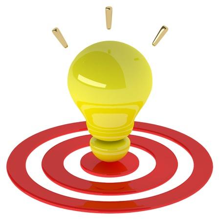 Yellow light bulb 3d as creative concept. Success concept Stock Photo - 20119549