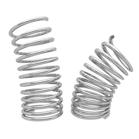 dampen: metal spring isolated on white background