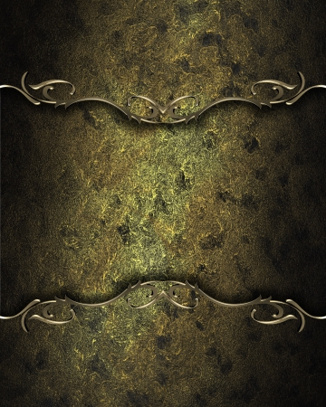 Design template. dark golden texture with golden edges. Design for website photo