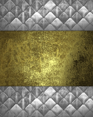 nameplate: The template for the inscription. Metal Background with gold nameplate for writing.