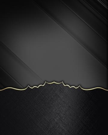 FANCY BORDER: Black edges with gold trim on black background. Design element. Template