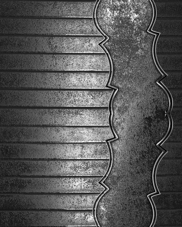 Grunge metal texture with old metal on edge. Design template photo