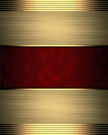 Red background with gold edges. Template for design photo