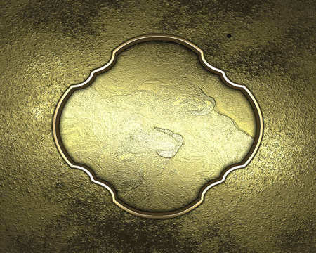 Textured gold background with gold cut. Design element photo