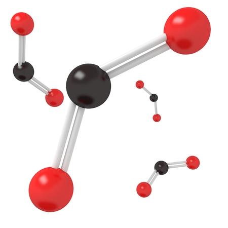 dioxide: CO2 Carbon Dioxide molecule Stock Photo