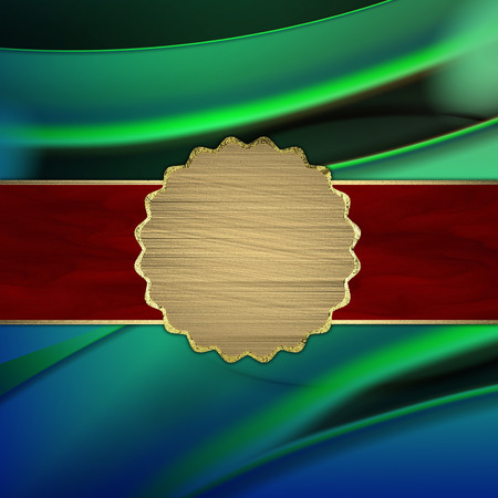 abstract background with red gold  plate Stock Photo - 23097604