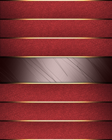 Design template. Red background with a red ribbons with gold trim photo
