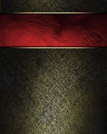 Black background with gilding and red plate with gold trim. Design template photo