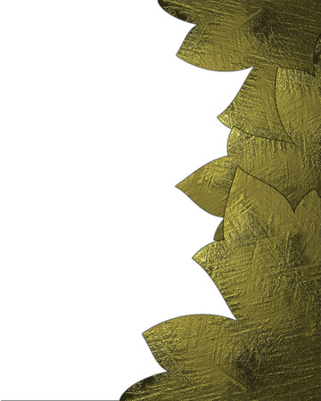 Abstract background with golden petals on isolated white background. Design template photo