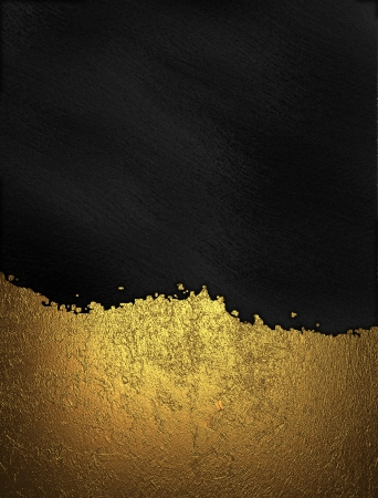 gold nameplate with gold trim on black background. Design template