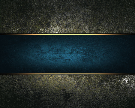 rusty background: Rusty background with blue ribbon. Design template