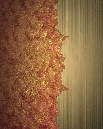 Red and gold background with ragged edges with gold edge. Design template Stock Photo - 23773247