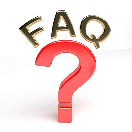unanswered: Question mark and FAQ Stock Photo