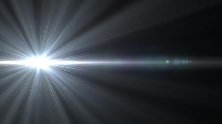 trek: Design template - Star, sun with lens flare. Rays background.