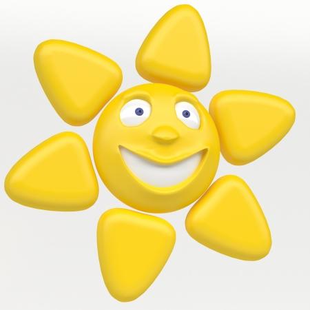 smiling sun icon photo