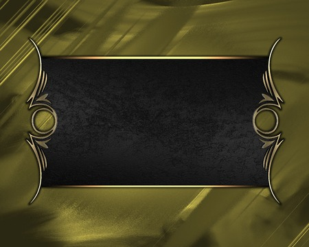 Design template - gold background with Black nameplate with gold trim