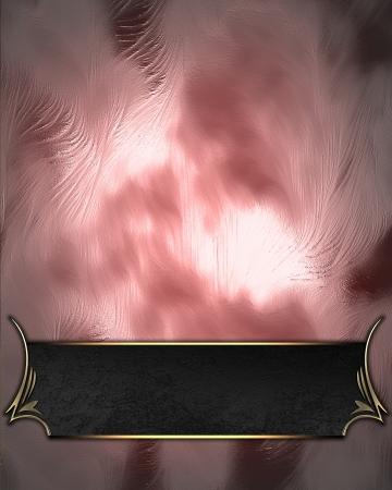 Ontwerp template - Glanzende roze achtergrond met zwarte naamplaat met gouden versiering