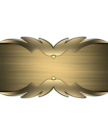 white trim: White background with gold cutout with gold trim.. Design template