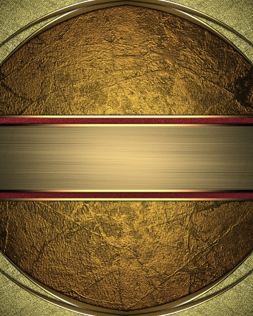 rounded edges: Gold background with rounded edges gold and gold ribbon. Design template
