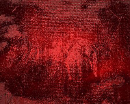 crosshatching: Textured red background