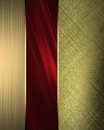 golden texture: Struttura dorata con accenti rossi Archivio Fotografico