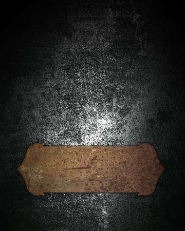 Design template. grunge metal texture with rusty plate photo