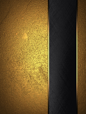 classy background: Gold texture with black nameplate. Design template. Design site