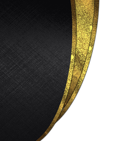 Black background with gold cutout on white background. design template photo