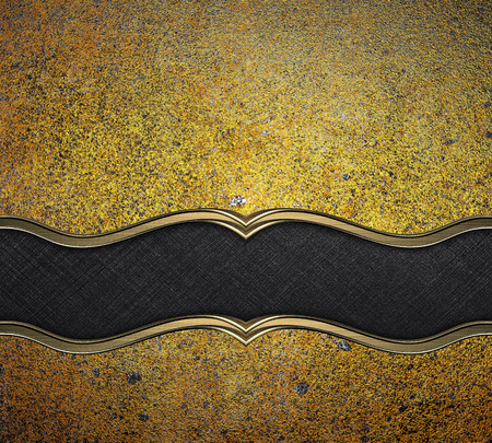 yelllow: Old dirty yellow metal (gold) with black Yelllow. Design template. Design site Stock Photo