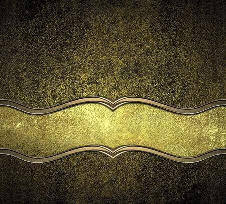 yelllow: Old dirty yellow metal (gold) with gold Yelllow. Design template. Design site
