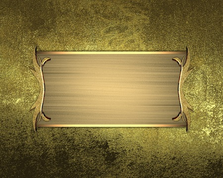 Abstract  grunge golden background with gold nameplate . Design template. Design site photo