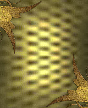 Textured gold background with gold pattern. Design template. Design site photo