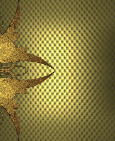 gold textured background: Textured gold background with gold pattern. Design template. Design site