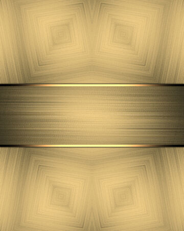 gold textured background: Textured gold background with gold ribbon